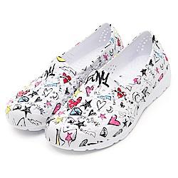【PONY】TROPIC 輕量舒適GOGO鞋 涼鞋 拖鞋-中性-白