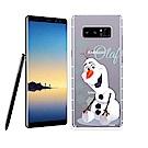 冰雪奇緣展場限定版 Samsung Galaxy Note8 透明軟式空壓殼(雪花雪寶)
