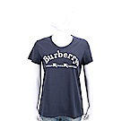 BURBERRY 典藏徽標繡飾棉質T恤(深藍色)