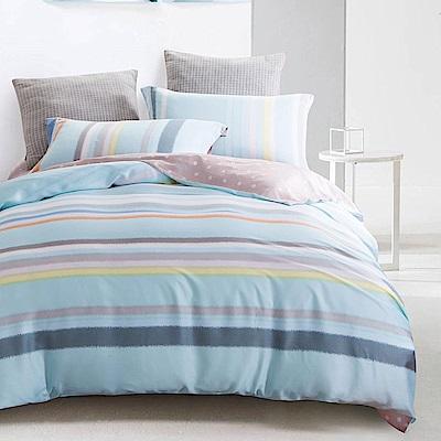 岱思夢 加大100%天絲床包枕套三件組 七彩夢