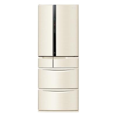 Panasonic國際牌601公升六門日本原裝冰箱(香檳金)-NR-F607VT-N1