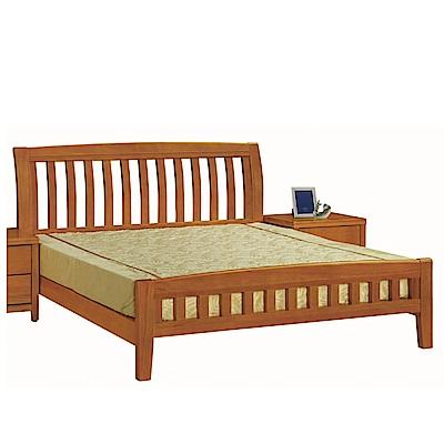 綠活居 亞利時尚6尺實木雙人加大床台(不含床墊)-183x206.7x106cm免組