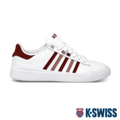 K-SWISS Pershing Court 輕量休閒運動鞋-女-白/紅/粉紅
