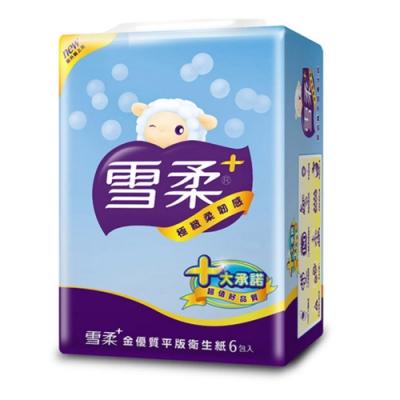 雪柔平版衛生紙 300張x6包x6串/箱