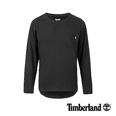 Timberland 女款黑色品牌LOGO休閒長袖T恤|B3501