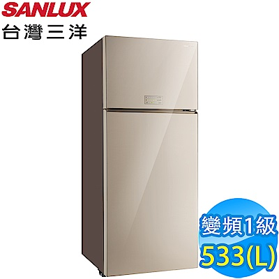SANLUX台灣三洋 533L 1級變頻2門電冰箱 SR-C533BVG 采晶玻璃鏡面