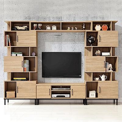 時尚屋  波頓9.3尺電視櫃組  寬279x深40x高196cm