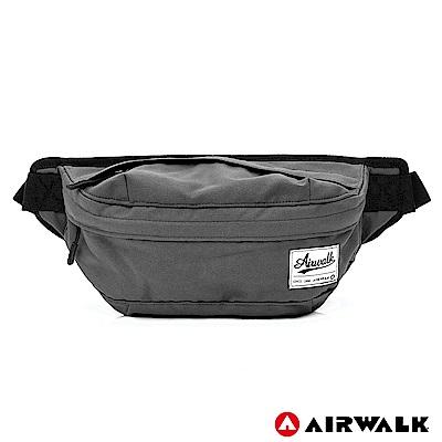 AIRWALK-都會輕騎休閒側背包-灰