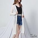 鏤空線條針織罩衫防曬外套 共四色 TATA