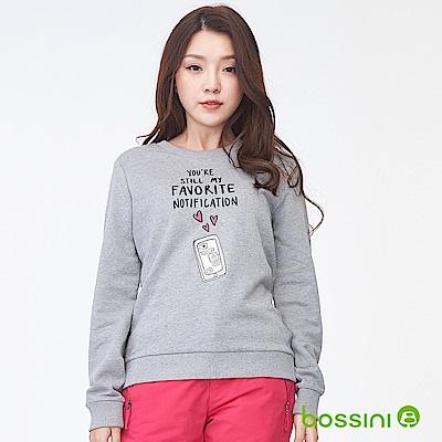 bossini女裝-印花厚棉運動衫05淺灰