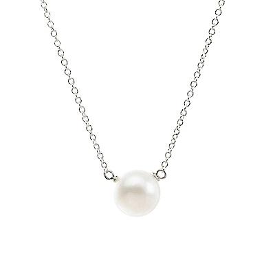 【Dogeared】美國品牌 大款白珍珠 銀色許願項鍊