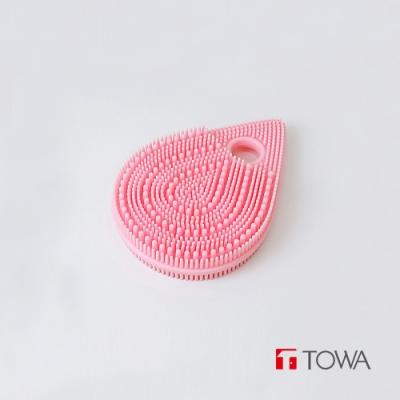 日本東和TOWA 易起泡軟質矽膠雙面按摩潔顏刷