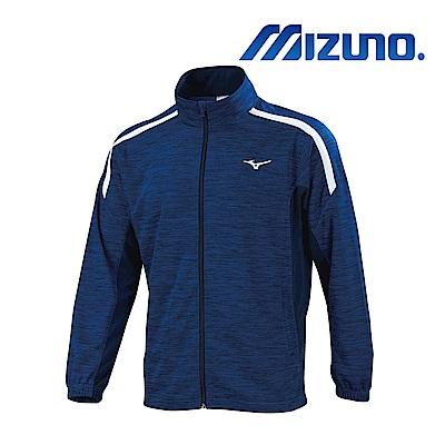 MIZUNO 少年針織運動外套 麻花藍X深丈青 32TC913282