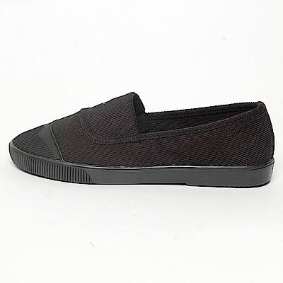 【AIRKOREA韓國空運】韓國空運時尚貝殼鞋頭絨布平底鞋鞋-黑