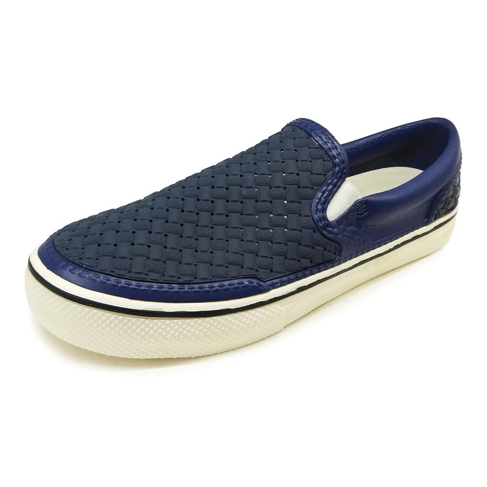 (女)Ponic&Co美國加州環保防水編織懶人鞋-深藍色