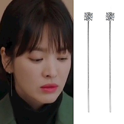 梨花HANA  韓劇宋慧喬男朋友S925銀針單鑽耳線耳環