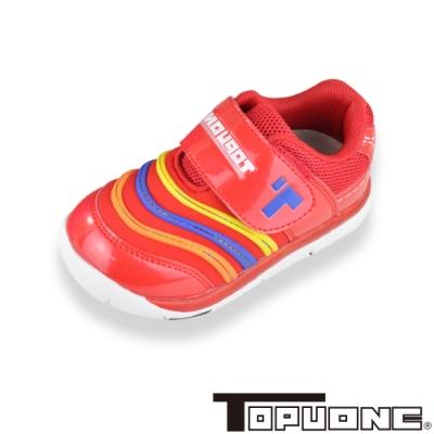 (雙11)TOPUONE童鞋 輕量抗菌防臭減壓吸震防滑休閒鞋-紅