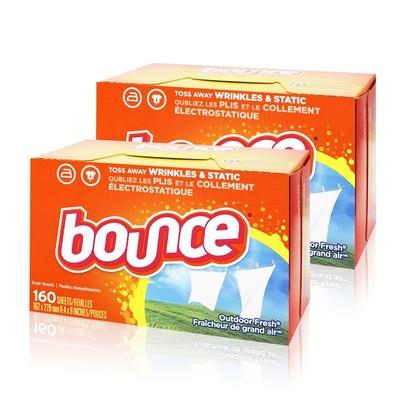 美國進口 Bounce 烘衣柔軟片(160片)-2入組