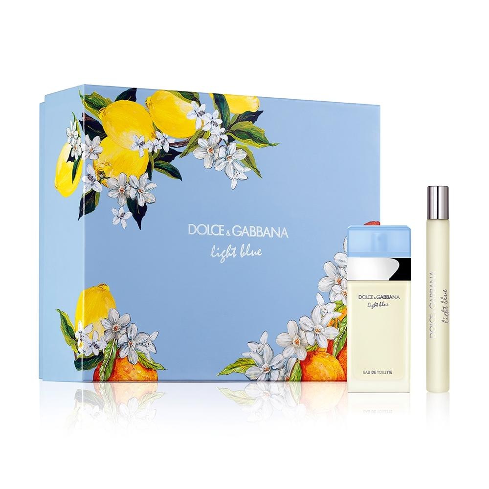 Dolce & Gabbana 淺藍女性淡香水禮盒(淡香水25ml+香水筆10ml)