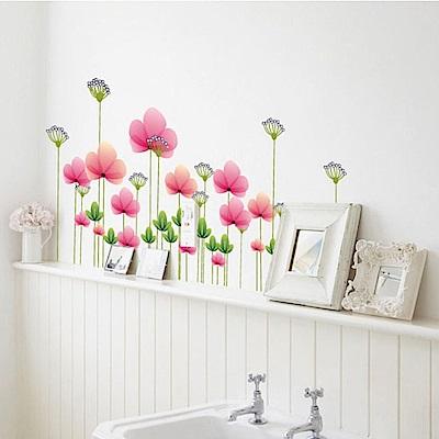 半島良品 DIY無痕壁貼-唯美花朵 AY7205 50x70cm