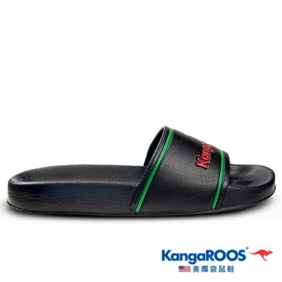KangaROOS 美國袋鼠鞋 男 ICON SLIDE 休閒涼拖鞋(黑-KM01640)
