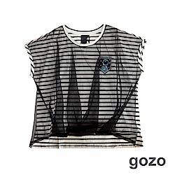 gozo 迷走星球探索者連袖上衣(三色)