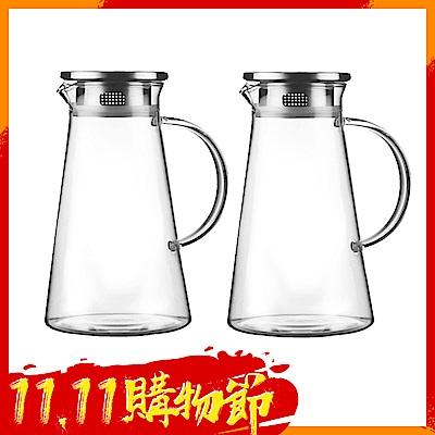 [時時樂限定][買一送一] Incare 熱銷日本耐高低溫玻璃冷水壺1700ML