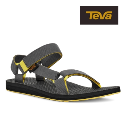 【TEVA】原廠貨 男 Original Universal 經典緹花織帶涼鞋/雨鞋/水鞋(黃灰色-TV1004006SDSH)