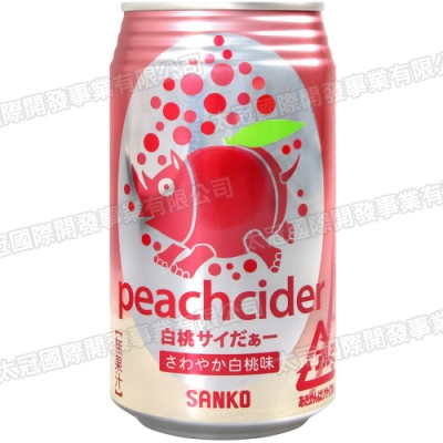 SANKO 碳酸飲料-水蜜桃風味(350ml)
