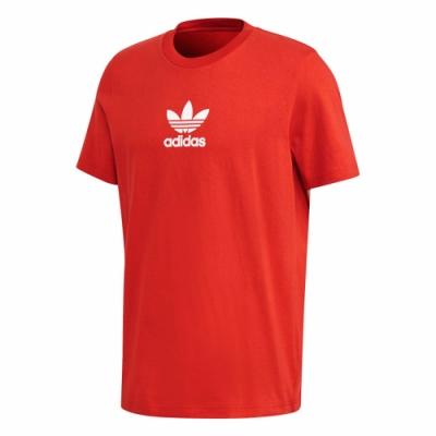 adidas 短袖上衣 運動 休閒 健身 訓練 男款 紅 FM9922 Premium Tee
