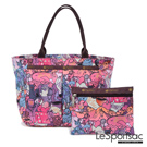 LeSportsac - Standard手提水餃包-附化妝包(紫色童話)