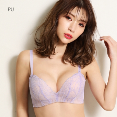 aimerfeel 蕾絲軟式超盛內衣-紫色-170713-PU
