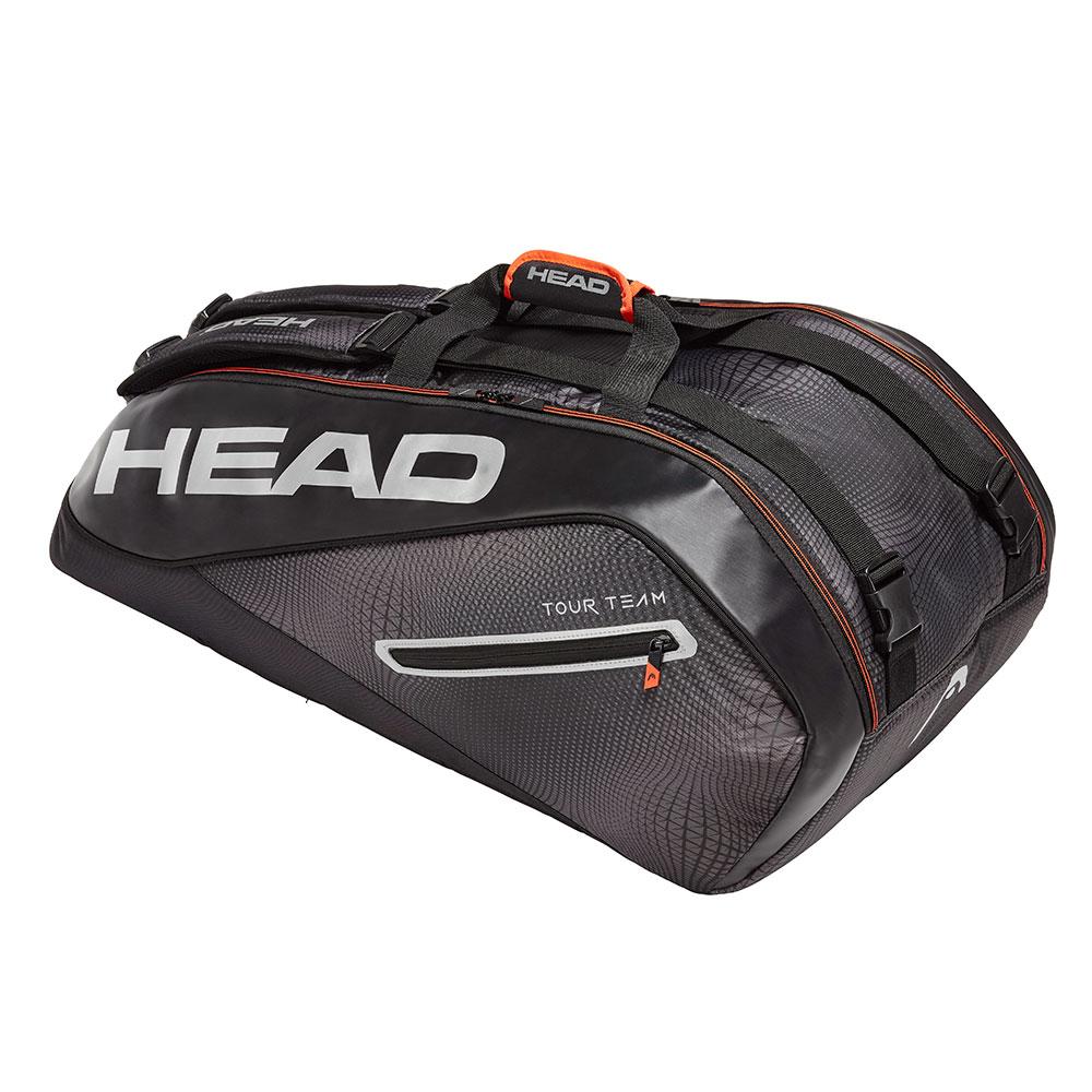 HEAD奧地利 Tour Team系列 9支裝球拍袋-黑銀 283119