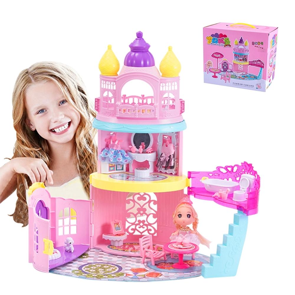 colorland兒童玩具 扮家家酒城堡公主手提玩具箱