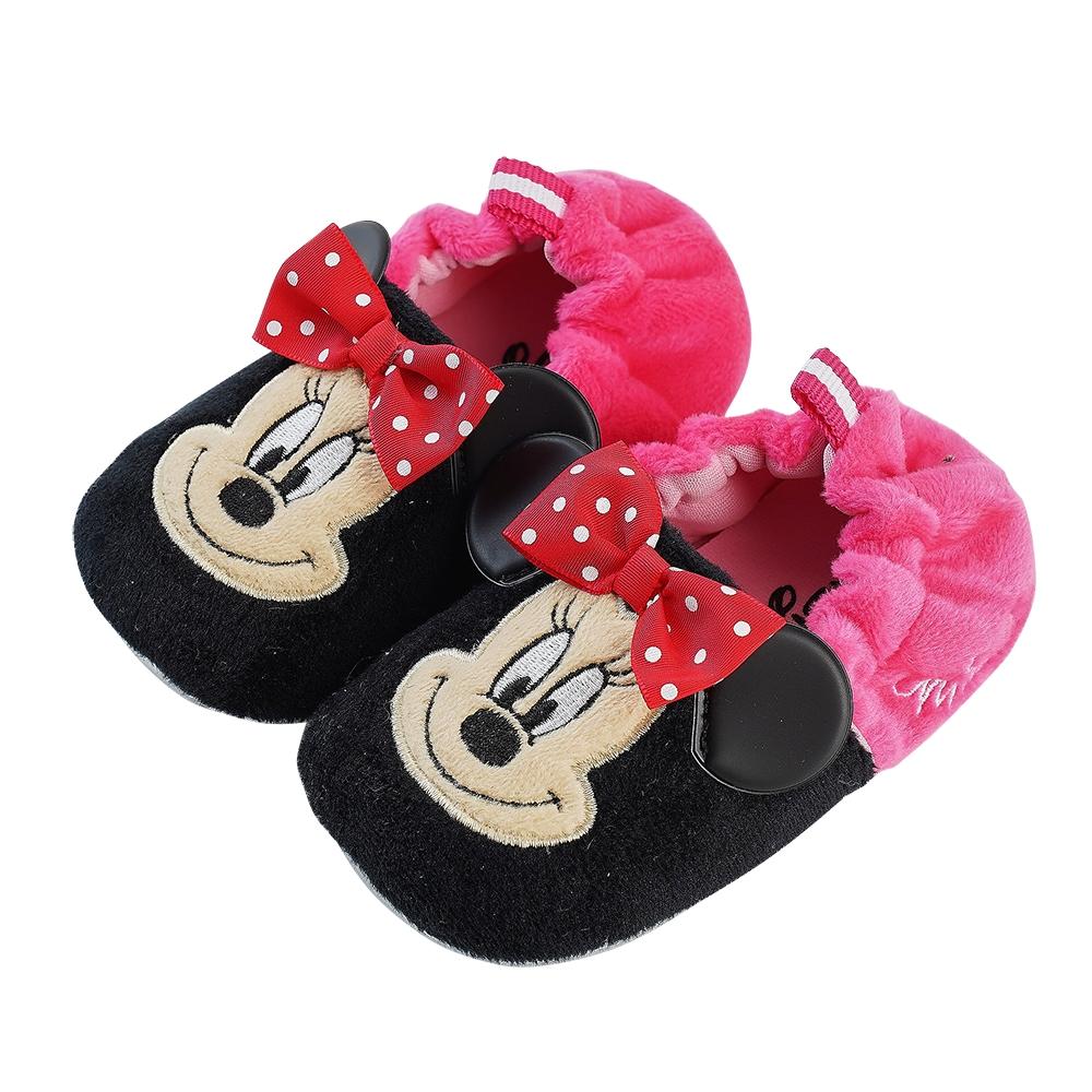 迪士尼童鞋 米妮 柔毛電繡寶寶學步鞋-黑桃(柏睿鞋業) product image 1