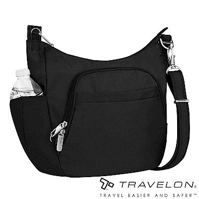 Travelon美國防盜包 簡約經典素面防割鋼網休閒旅遊側背包TL-42757黑14