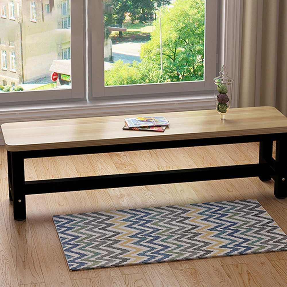 【Effect】簡約時尚-多功能長凳椅凳-兩色可選(80x30x45公分)