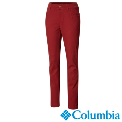 Columbia 哥倫比亞 女款-防曬50長褲-暗紅 UAK11330WE