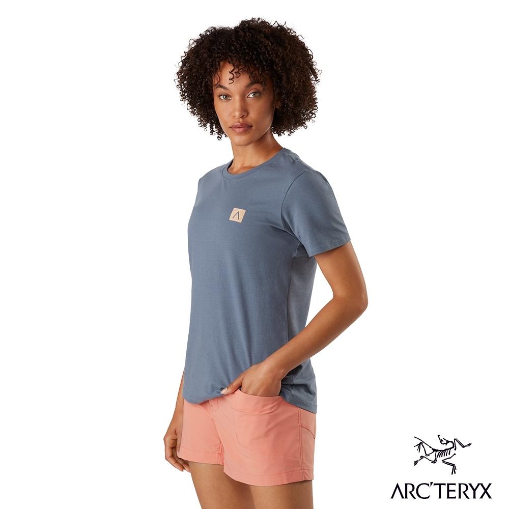 網路獨家●Arcteryx 始祖鳥 女 24系列 A Squared 有機棉 短袖休閒Tee 平流層灰