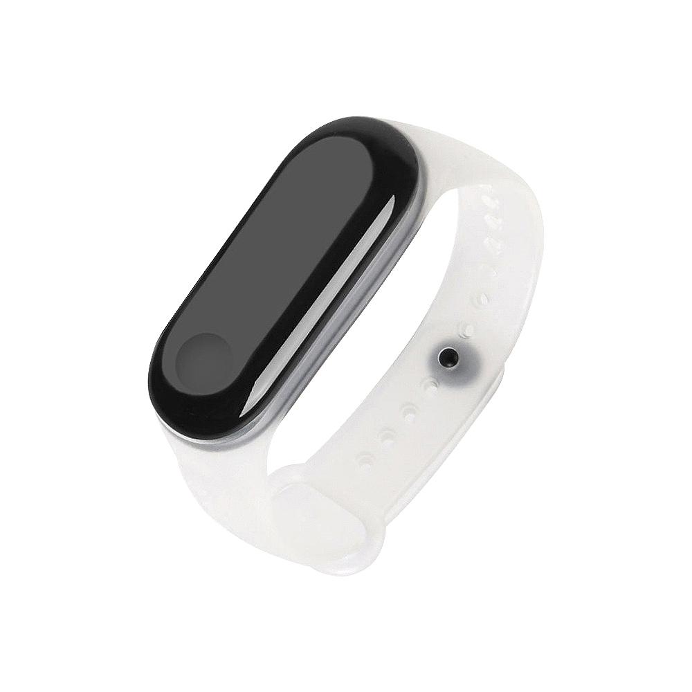(贈保護貼)【SHOWHAN】小米手環4透明矽膠腕帶/錶帶/七色