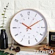 TROMSO 紐約時代玫瑰金靜音時鐘-金采曼哈頓白 product thumbnail 1