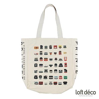 Loft Deco | Printer | 復古棉籽帆布袋