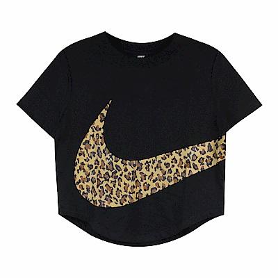 Nike 女 CROP ANML 圓領T(短)