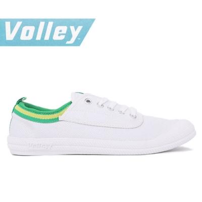 澳洲Volley 輕便休閒白鞋 情侶 男女款 白綠