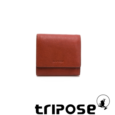 tripose 進口牛皮短夾 咖啡色