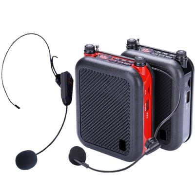 大聲公教學型無線式多功能行動音箱(雙耳麥)