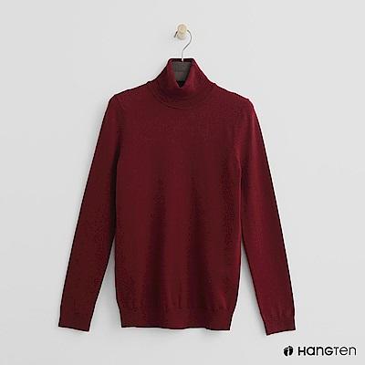 Hang Ten - 女裝 - 質感高領針織上衣-紅