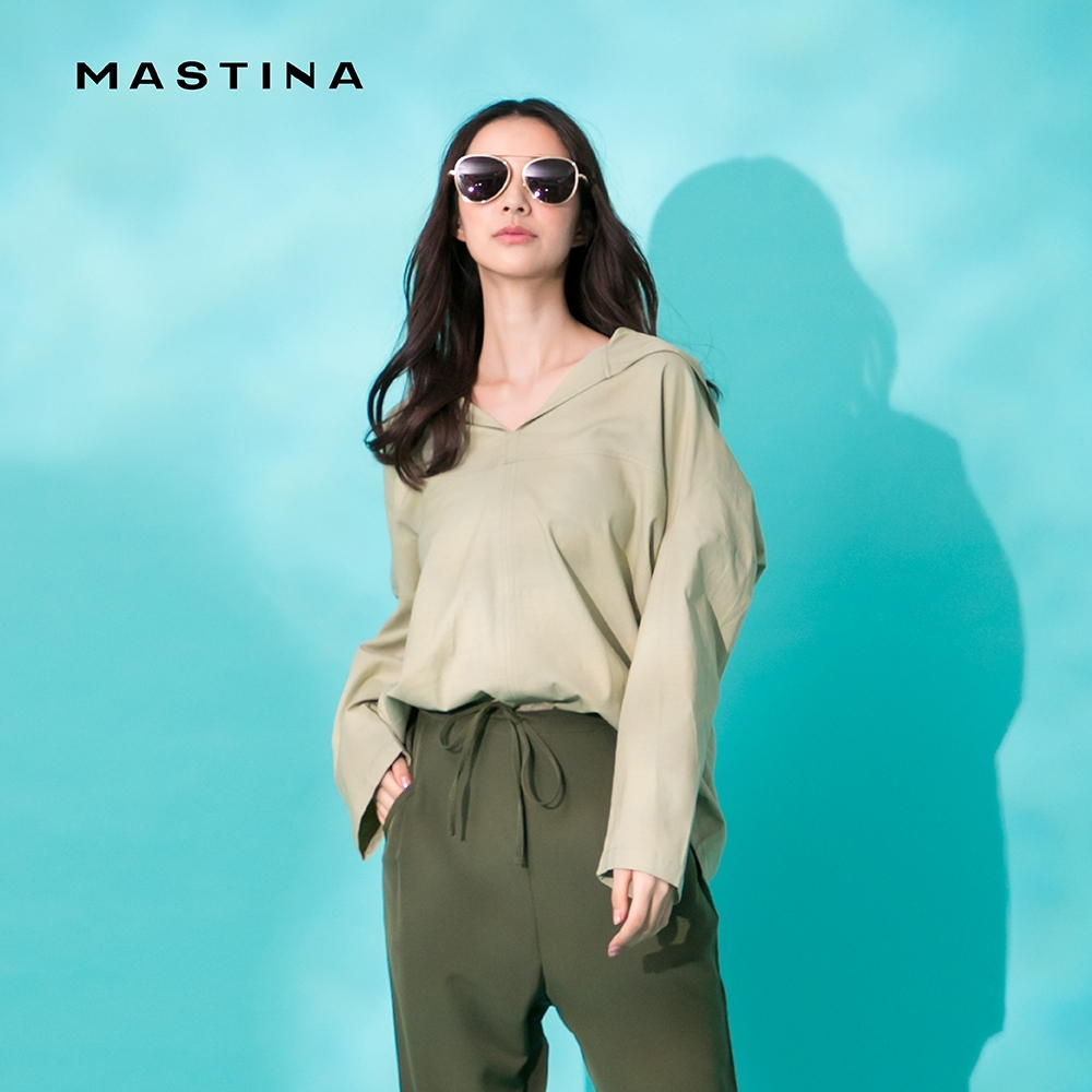 【MASTINA】韓版寬鬆連帽-襯衫(二色)