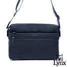 Lynx - 美國山貓商務紳士牛皮多功能拉鍊袋大斜背包