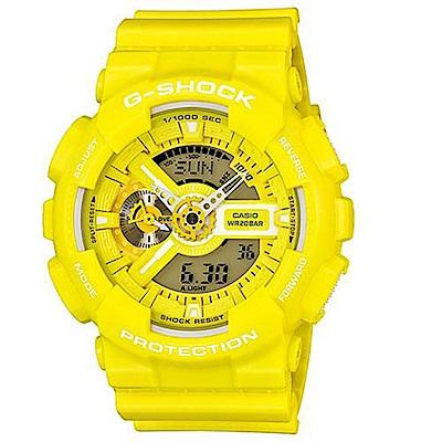 CASIO Baby-G 個性活力搶眼雙顯錶 (BA-110BC-9A)-黃/46mm